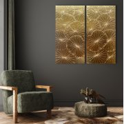 Handgilt panel gold 40x80cm