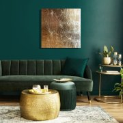 Golden Panel Lotusart 60x60 cm hand gilded