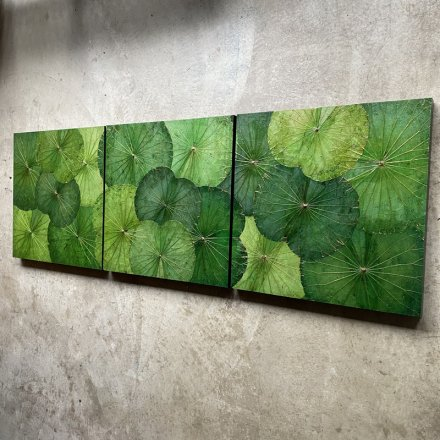 Panel Lotusart Green 60x60