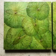Lightgreen Panel Lotusart 60x60 cm