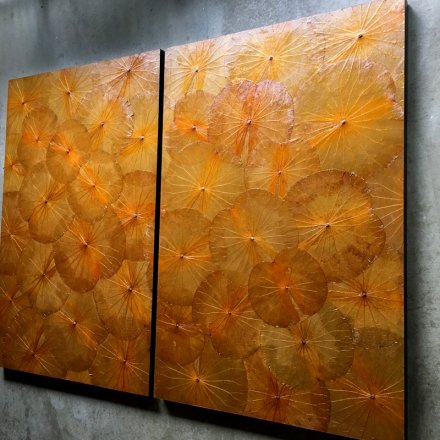 Lotus Wallart (80x120cm) O2 Orange