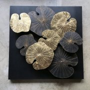 3D Lotus BLACK GOLD (80x80cm)