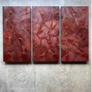 Lotusbild (80x120) Triptychon RED
