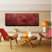 Lotus Triptychon (60x180) RED