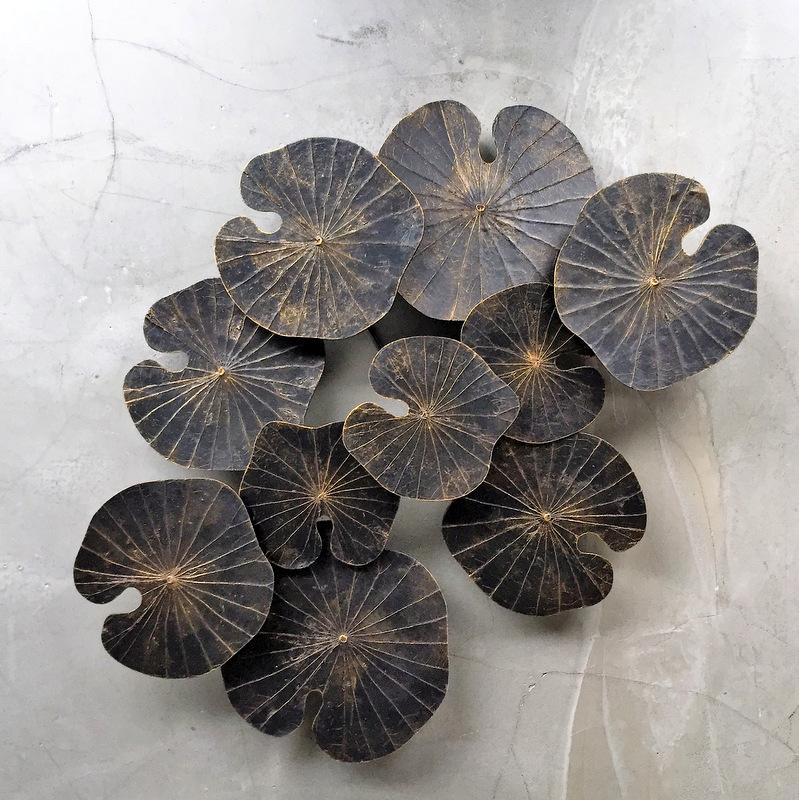 Wandbild Lotus schwarz