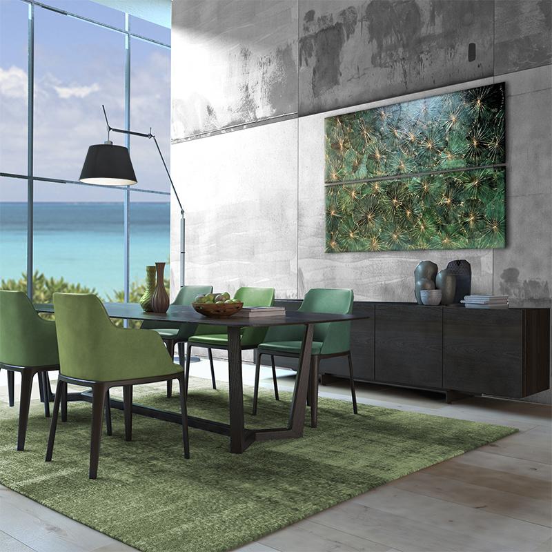 Wandbild Lotos Grün